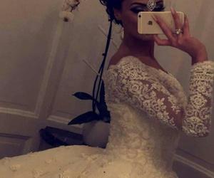 marriage, dress, and wedding image