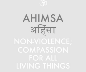 peace, compassion, and ahimsa image