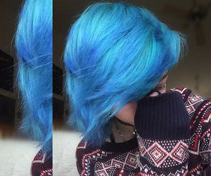 blue hair, cute, and dyed hair image