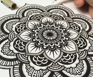 art, mandala, and beautiful image