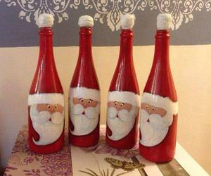 christmas, diy, and bottle image