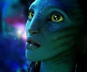 James Cameron, neytiri, and avatar movie image