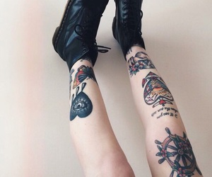 'shoes', 'black', and 'punk' image