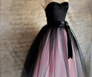 dress, black, and pink image