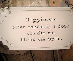 happiness, quotes, and door image