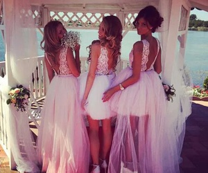 bride, girly, and sea image