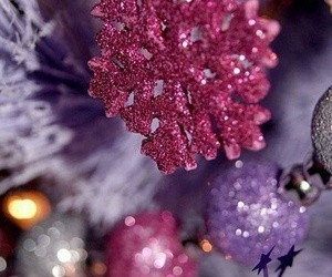 christmas, purple, and pink image