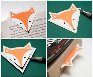 bookmarker, diy, and foxy image