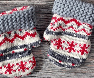 mittens, christmas, and winter image