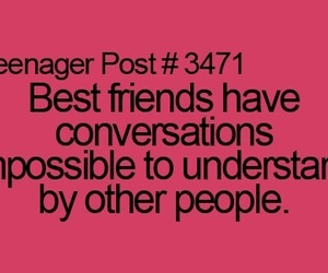 conversation, best friends, and impossible image