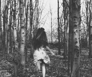 dress, forest, and grunge image