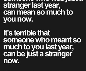 quote, strangers, and sad image