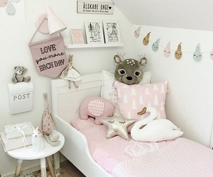 pink, room, and rooms image