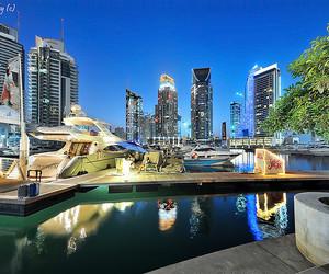 Dubai, sky, and blue image