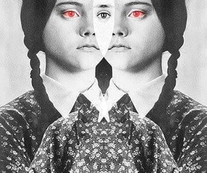 black and white, wednesday, and wednesday addams image