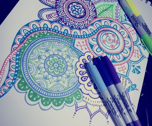 arte, mandalas, and colora image