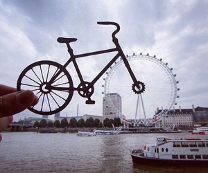 photography, london, and bike image