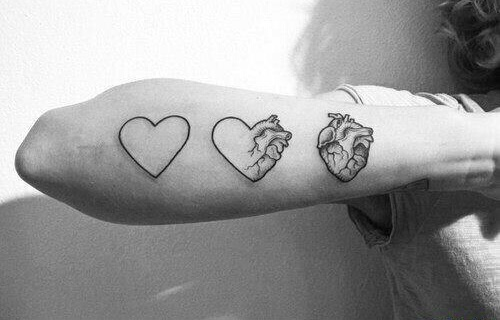 blackandwhite, cute, and tattoo image