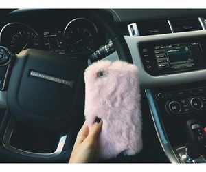 car, iphone, and pink image