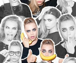 model, cara delevingne, and face image