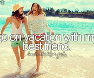 vacation, summer, and best friends image