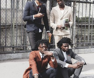 black man, fashion, and handsome image