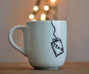 tea, light, and cup image