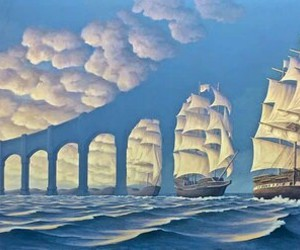 awesome, blue, and illusion image