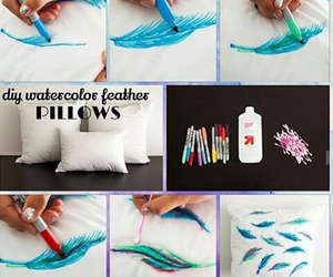 pillow, diy, and feather image