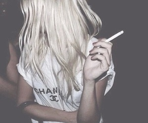 girl, cigarette, and chanel image