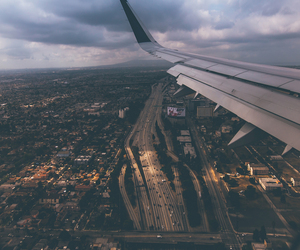travel, airplane, and city image