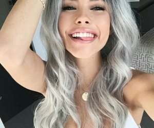 madison beer, hair, and grey image