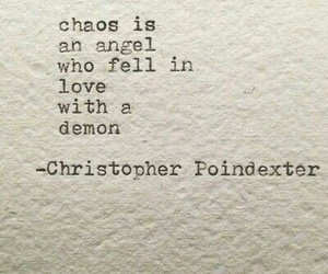 chaos, demon, and christopher poindexter image