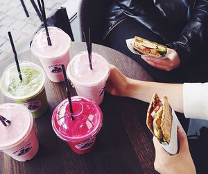 healthy, juice, and pink image
