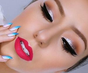 art, mascara, and beauty image