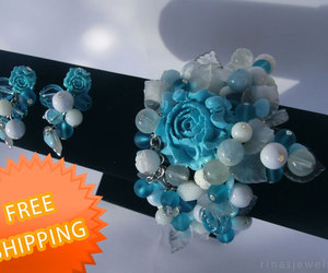 etsy, turquoise jewelry, and jewelry set image