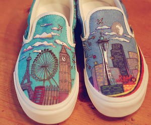 shoes, london, and vans image