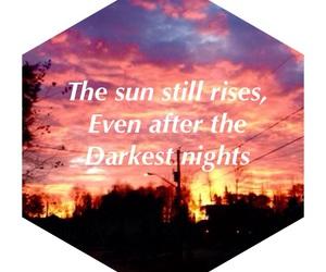 hope, sun, and night image