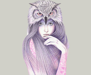 art, owl, and Tattoos image