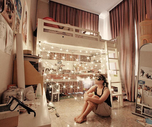 alone, girly, and lights image