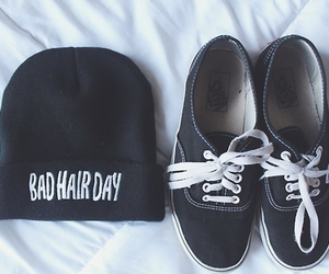 fashion, vans, and bad hair day image