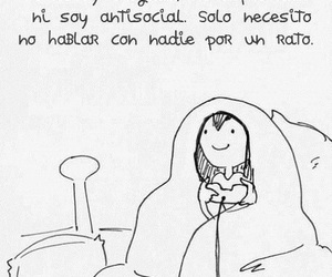 antisocial, frases, and alone image