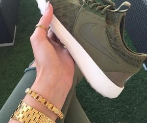 bracelet, gold, and nike image