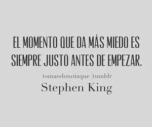 miedo, Stephen King, and frases image