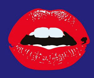 lips, blue, and mouth image