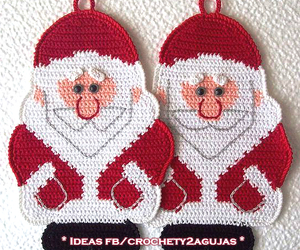 christmas, crochet, and santa image