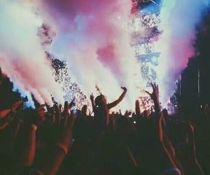 calvin harris, neon lights, and peoples image
