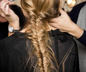 hair, braid, and model image