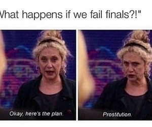 funny, school, and finals image