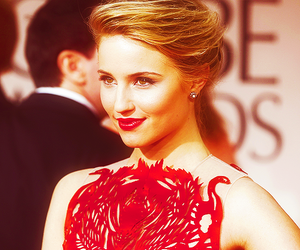 dianna agron, beautiful, and red image